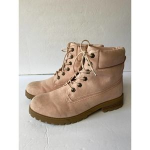 Cliffs By White Mountain Pink Combat Boots